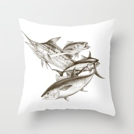 Saltwater big game Throw Pillow