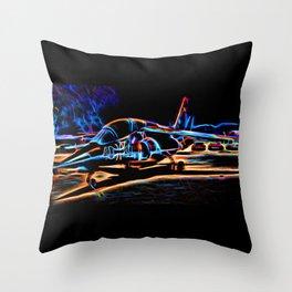 Neon Jet Throw Pillow