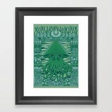 Dreamer in the Deep Framed Art Print