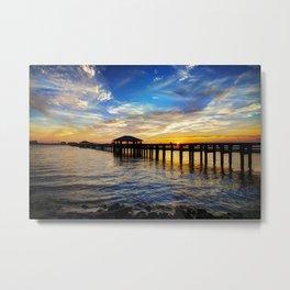 Biloxi Bay Sunset Metal Print