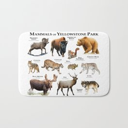 Mammals of Yellowstone Park Bath Mat