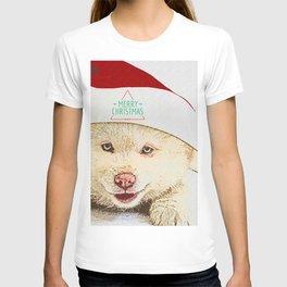 Dog wishes you a merry chrismas T-shirt