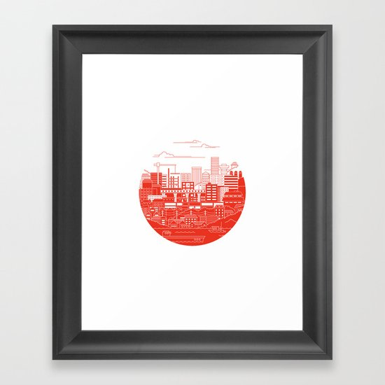 Rebuild Japan Framed Art Print