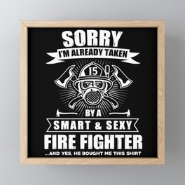 Firefighter Volunteer Fire Brigade Fire Department Framed Mini Art Print