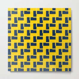 TEAM COLORS 6 ...YELLOW ,NAVY AND WHITE Metal Print
