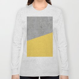 Concrete and Primrose Yellow Color Long Sleeve T-shirt