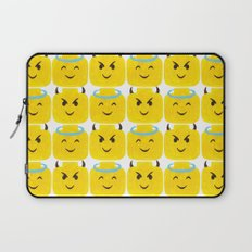 Emoji Minifigure Angel Devil Laptop Sleeve
