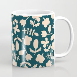 Floral Vase | Blue, Red, + Peach Coffee Mug