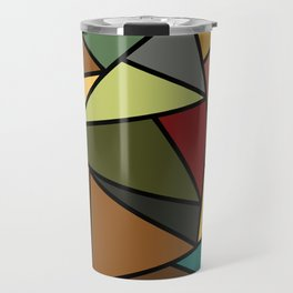 Baroque Autumn Stained Glass Pattern Travel Mug
