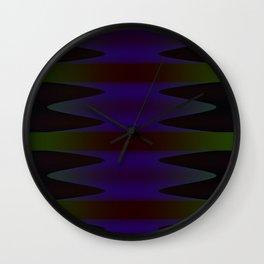 Inward Waves Wall Clock