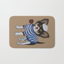 Chihuahua - Sailor Chihuahua Bath Mat