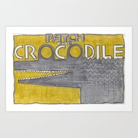 Patch the Crocodile Art Print