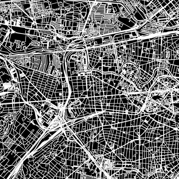 Berlin Black Map Leggings