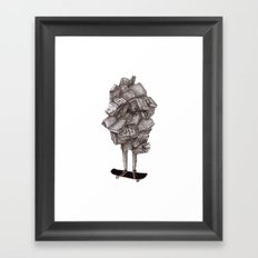 all about learning Framed Art Print