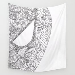 Spider Hero Doodle Wall Tapestry