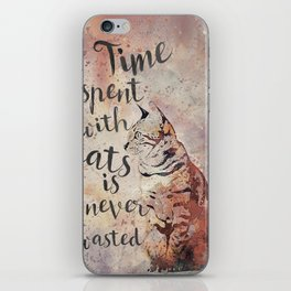 Time spent with cats is never wastet iPhone Skin