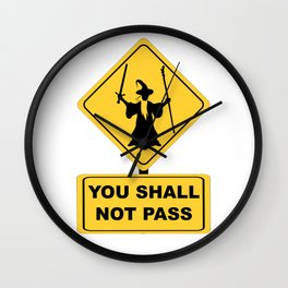 Wizard You Shall Not Pass Wall Clock