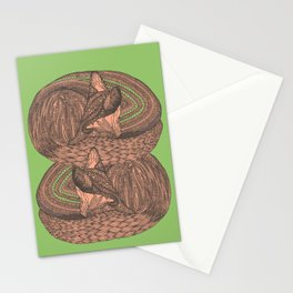 Sleeping foxes Stationery Cards