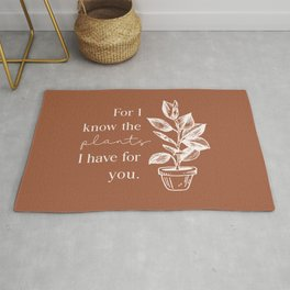 For I Know the Plants Rug
