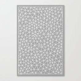 Connectivity - White on Grey Canvas Print