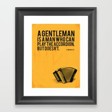 Definition of a Gentleman Framed Art Print