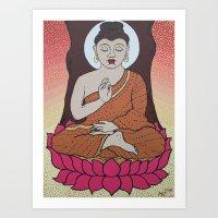 buddha Art Prints featuring Buddha     by Marjolein