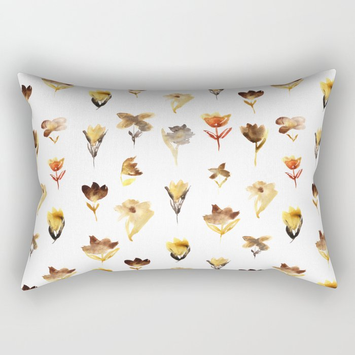 The beauty of dry flowers Rectangular Pillow