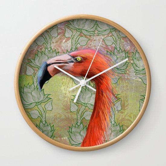 Red big bird Wall Clock