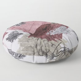 Carbonation Collection: pink Floor Pillow