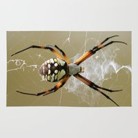 spider Area & Throw Rugs featuring Spider by Veronica Ventress