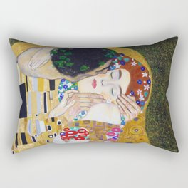 The Kiss by Kustav Klimt Rectangular Pillow