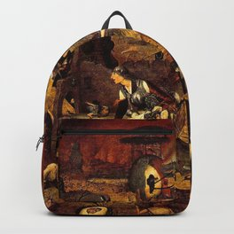 Mad Meg by Heironymus Bosch Backpack