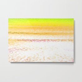 Yellow Sea Metal Print