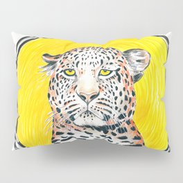 Leopard Sun King Ink Art Pillow Sham