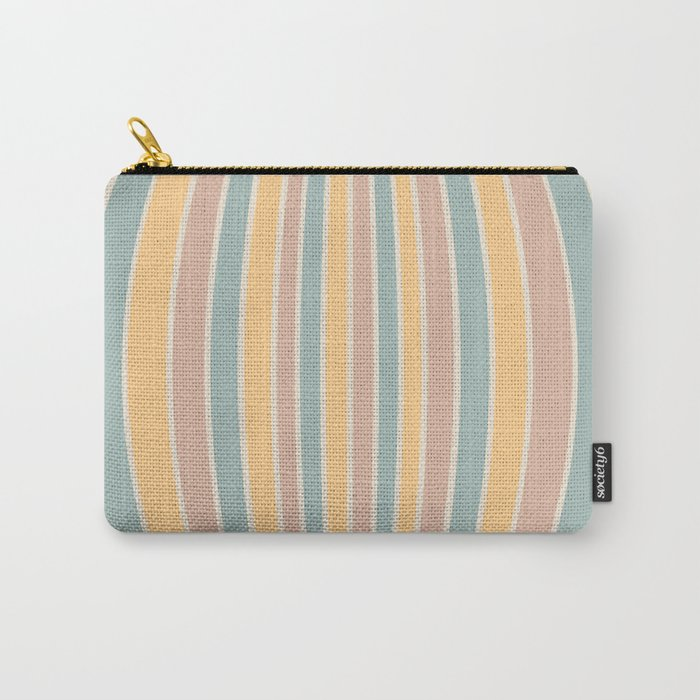 Warped Stripes - Vintage Pastel Colors Carry-All Pouch