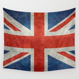 "UK Union Jack flag ""Bright"" retro grungy style Wall Tapestry"