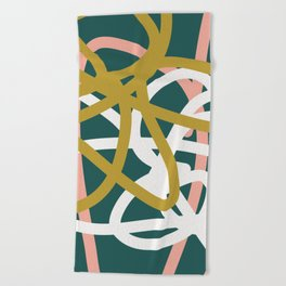 Abstract Lines 02B Beach Towel