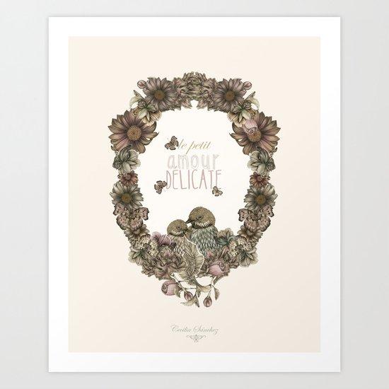 le petit, amour, délicate Art Print