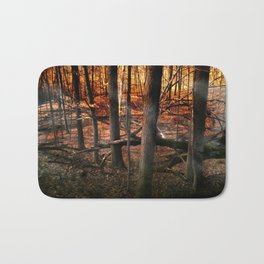 Sky Fire - surreal landscape photography Bath Mat