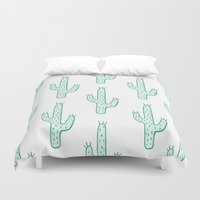 cactus Duvet Covers featuring Cactus by Emma Winton