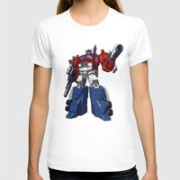 optimus prime T-shirts featuring Optimus by CromMorc