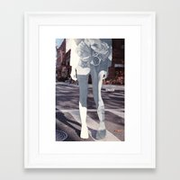 helen green Framed Art Prints featuring Helen by Briana Finegan