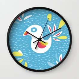 Abstract Bird In Spring Wall Clock