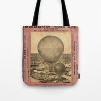 ballon Tote Bags featuring Ballon Captif by DAChiemsee