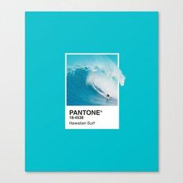Pantone Series – Hawaiian Surf Canvas Print