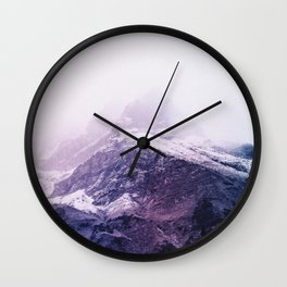 Lavender mountains Wall Clock