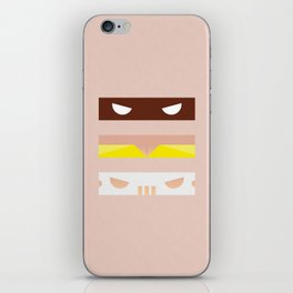 Teenage Minimal Ninja Good Guys iPhone Skin