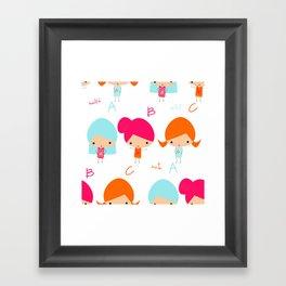 ABC Little Girls Framed Art Print