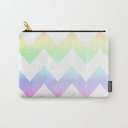 Watercolor Chevrons Carry-All Pouch