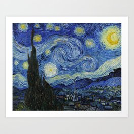 Starry Night by Vincent van Gogh Art Print